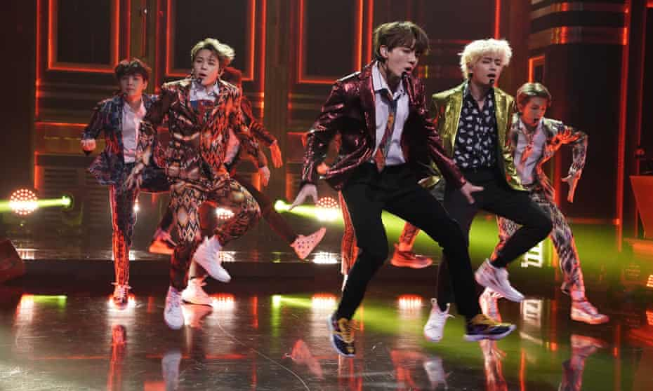 All the right moves: the phenomenally successful K-pop group BTS perform on the Tonight Show Starring Jimmy Fallon.