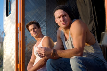 With Channing Tatum in Magic Mike XXL.