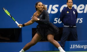 Serena Williams on court at the US Open