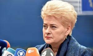 Lithuania's pesident Dalia Grybauskaite.