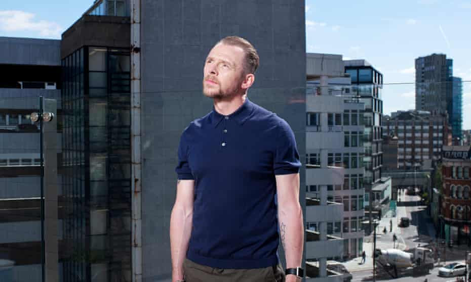 Actor Simon Pegg, at The Curtain Hotel, London.