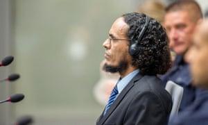Ahmad al-Mahdi on trial at the international criminal court in The Hague.