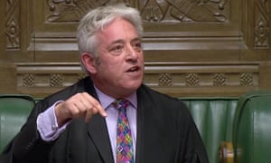 John Bercow told the house that withdrawal deal bill would not be debated on Monday.