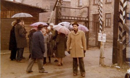 Fritz Kleinmann returning to Auschwitz circa 1980, 40 years after his imprisonment