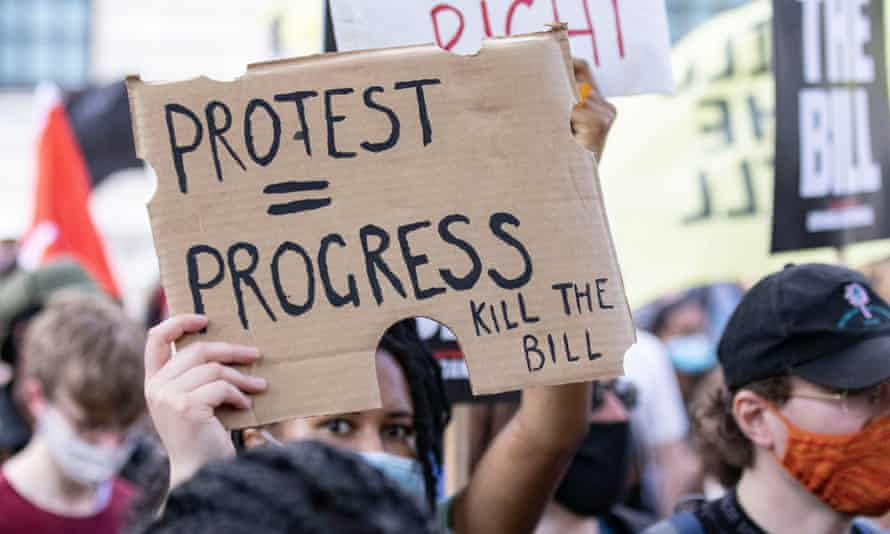 The police, crime, sentencing and courts bill has provoked widespread protests.