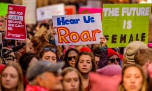 Thousands participate in demonstrations on Women's Day on 8 March 2017 in New York City.