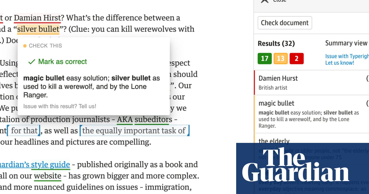 How we made Typerighter, the Guardian's style guide checker