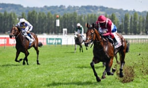 Frankie Dettori leads Mishriff to victory at Deauville.