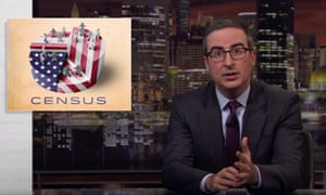 """John Oliver: """"It is absolutely vital to get the census right. That is why it's so unfortunate that the president seems to think it's a complete waste of time and money."""""""