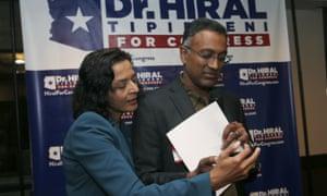 Democratic candidate Hiral Tipirneni (left) in Glendale, Arizona.