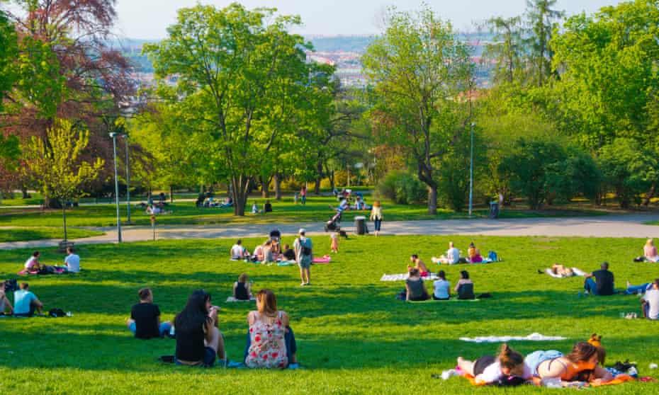Riegrovy Sady park.