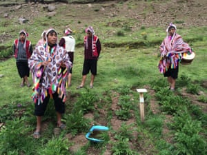 Farmers in Potato Park in Pisac, Peru, who are testing how climate change will affect the potato