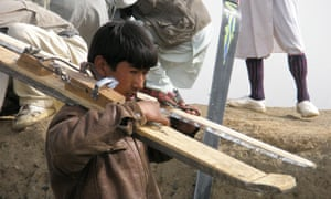 Wooden skis have traditionally been used as snow shoes in Afghanistan. The Afghan Ski Challenge, now in its sixth year, hopes to introduce downhill skiing to the war-torn country, which is attempting to send its first two skiers to the winter Olympics.