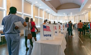 Voters in Georgia's primary election this week struggled with long lines, new equipment and social distancing.