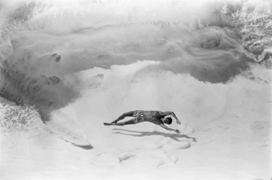 'We knew of no other wave like it' … Fred wipes out on the Pipeline, at Oahu, Hawaii, in 1979.