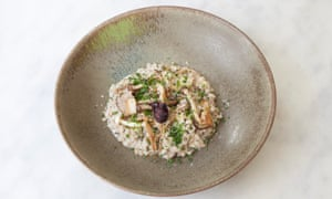 'Cooked so it still has bite': pearl barley risotto.