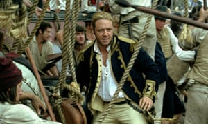 """Russell Crowe in Peter Weir's 2003, film of Master and Commander by Patrick O""""Brian."""