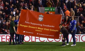 Liverpol and Everton fans