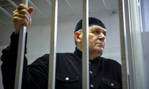 Oyub Titiev attends hearing in Shali
