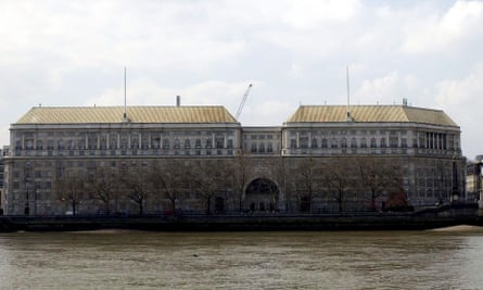 Thames House, MI5's HQ on Millbank, London.