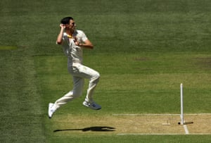 Pat Cummins and Australia's attack have had to work hard on a hot day at Adelaide Oval.