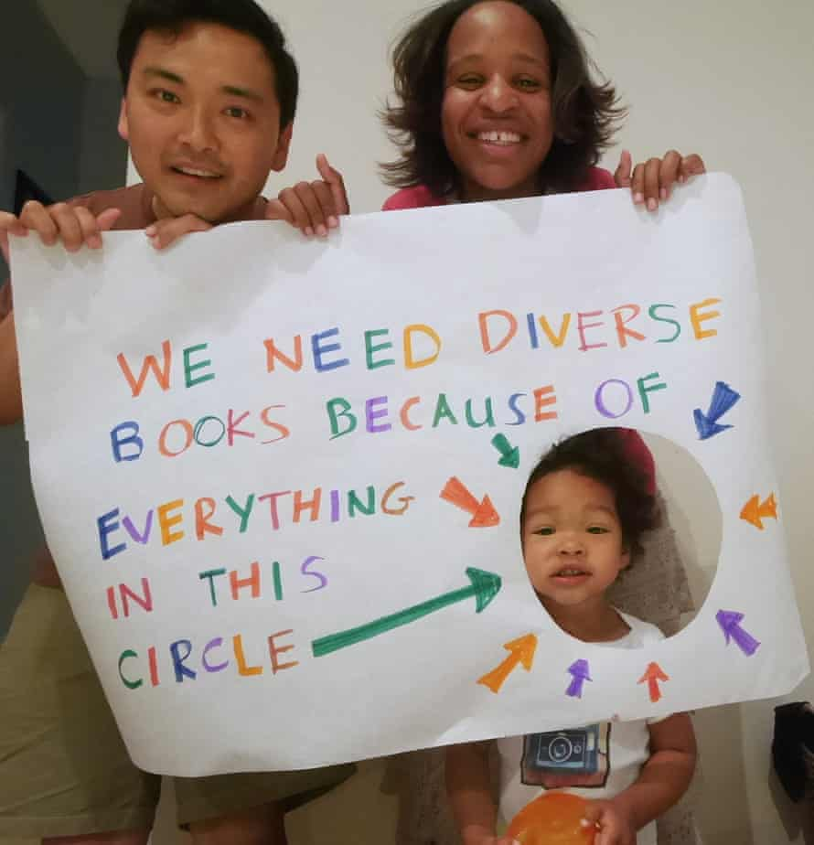 Nicola Yoon, with her daughter and husband.