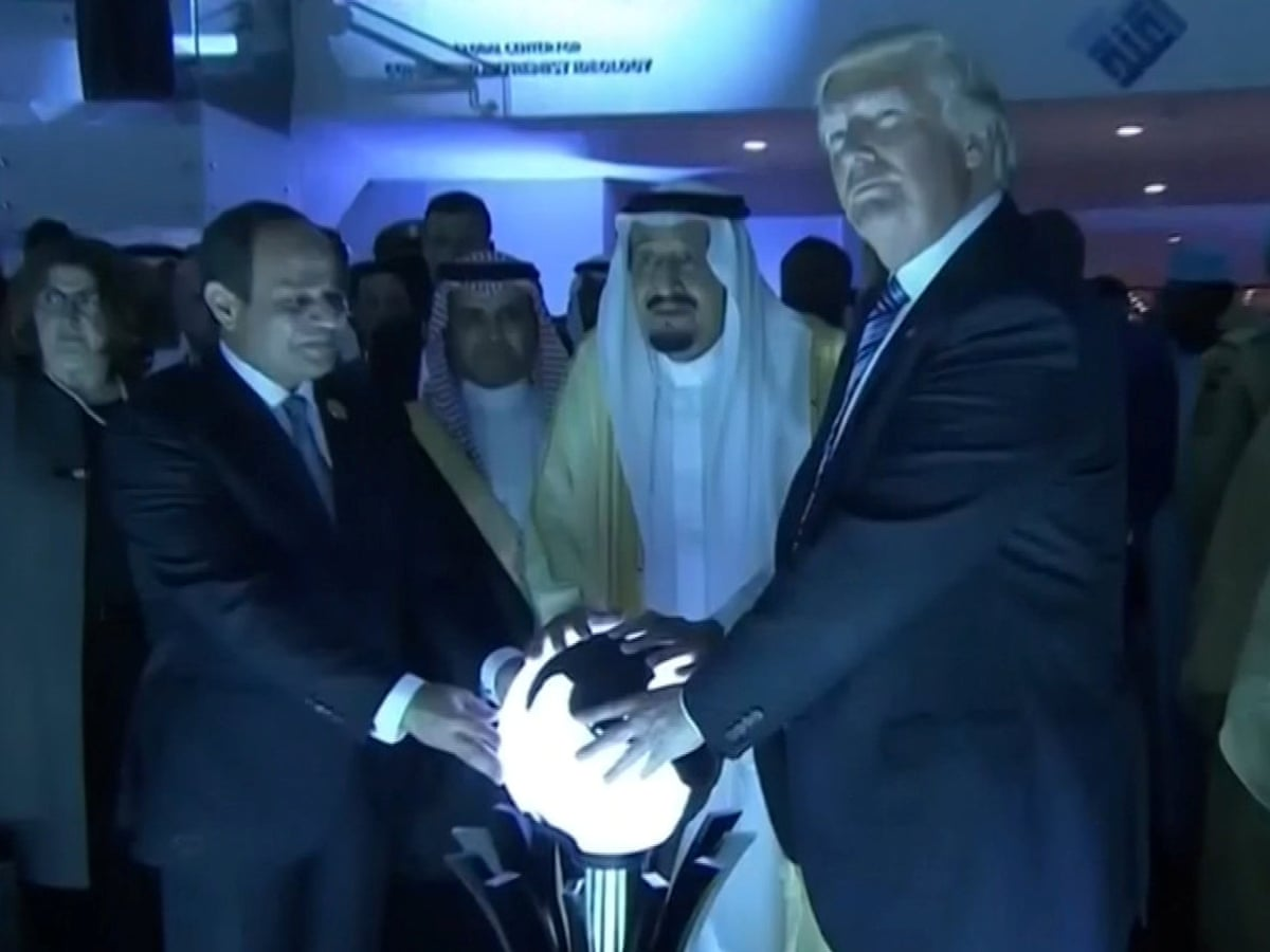 One orb, slightly used': MBS book reveals fate of Trump's mysterious Saudi sphere   US news   The Guardian