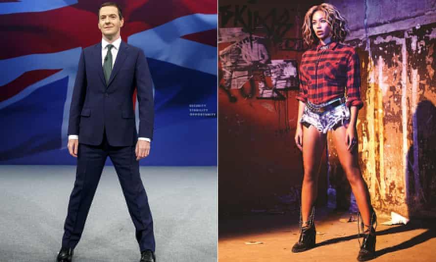 Take the stand … George Osborne and Beyoncé.