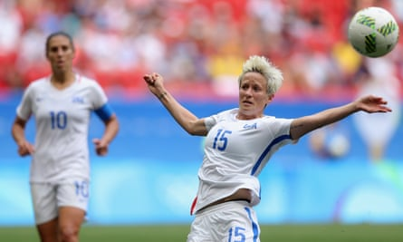 Megan Rapinoe in action for the USA against Sweden at the Olympic quarter-final in Brasília.