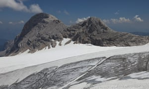 Niederer Dachstein, Styria, Austria: the glaciers losing ice in summer are not recovering in winter.