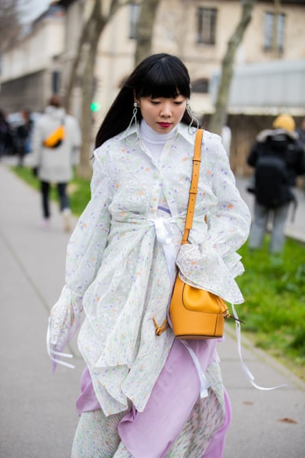 The ever-influential Susie Lau during Paris Fashion Week in February.