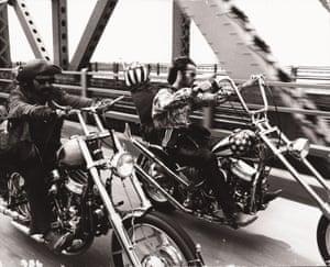 Dennis Hopper and Peter Fonda star in Easy Rider.