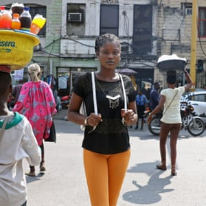 Emmanuella Aiyeola, 19, a first-time voter, in Lagos, 6 February