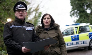 Line of Duty … Adrian Dunbar as Superintendent Ted Hastings and Vicky McClure as Detective Sergeant Kate Fleming.