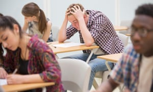 Stock photo of pupils sitting exams