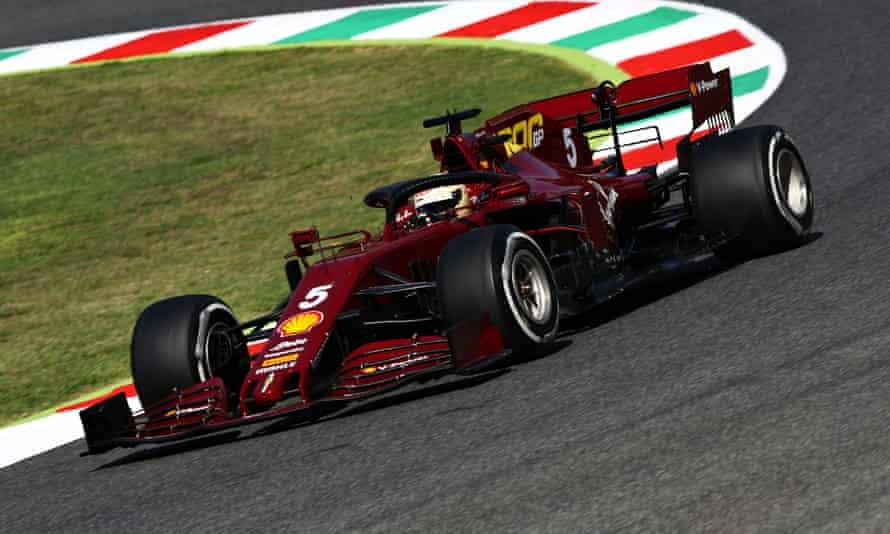 Sebastian Vettel during practice