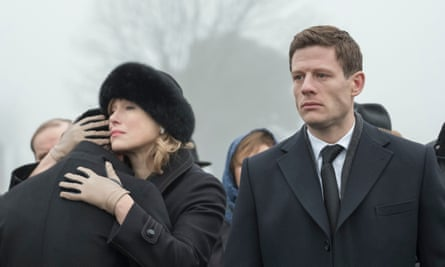 Maria Shukshina and James Norton in McMafia.