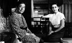 Setsuko Hara with Chieko Higashiyama in Tokyo Story, 1953, the third in Ozu's Noriko trilogy.
