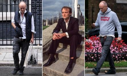 No deal dress code: Dominic Cummings in gilet, suit and hoodie