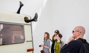 Work by Erwin Wurm at the Austria Pavilion, which encourages audiences to take part.