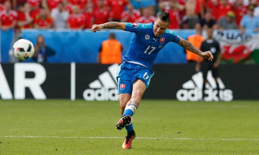 Marek Hamsik: a rare bright spark for Slovakia against Wales.