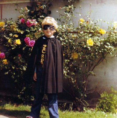 Robert WEbb as a child dressed up as Zorro