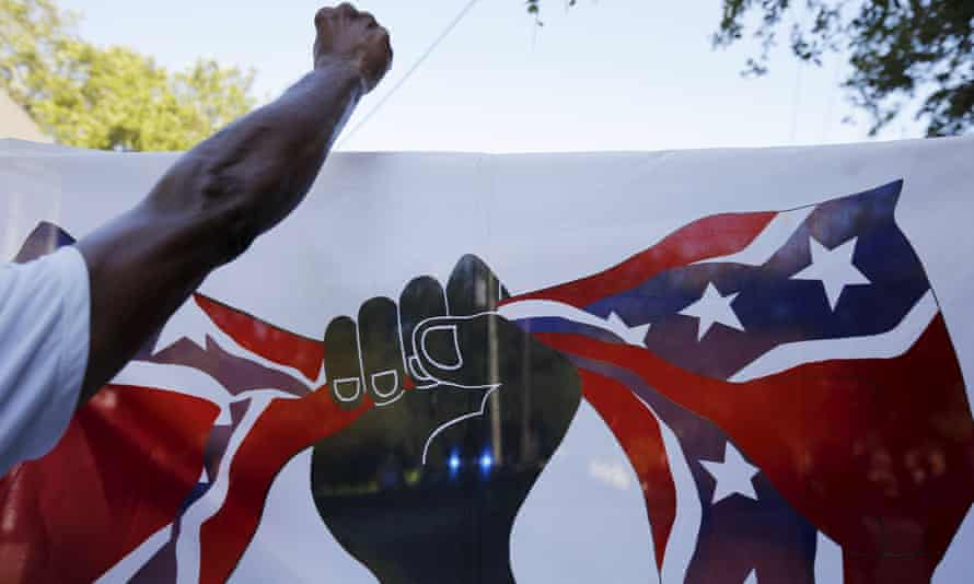 Demonstrators take part in the March for Black Lives in Charleston, South Carolina, on Saturday.