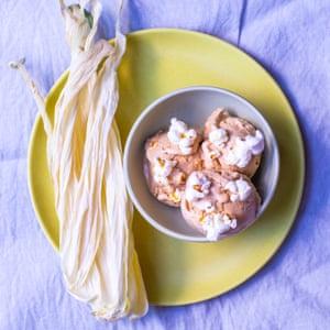 Tom Hunt's creamed corn and cob milk ice cream.