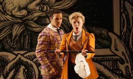 David Portillo as Tamino and Sofia Fomina as Pamina in the Glyndebourne production of Die Zauberflöte.