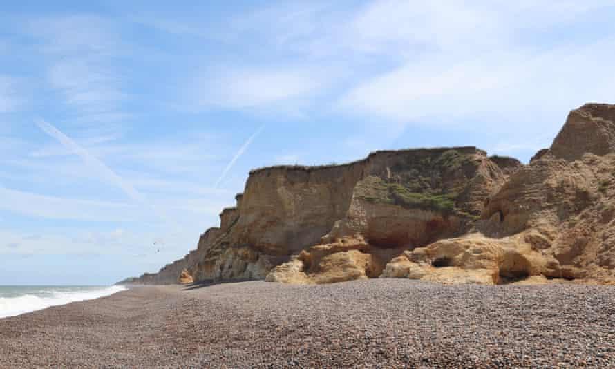 Weybourne Beach cliffs and coastline, North Norfolk coast