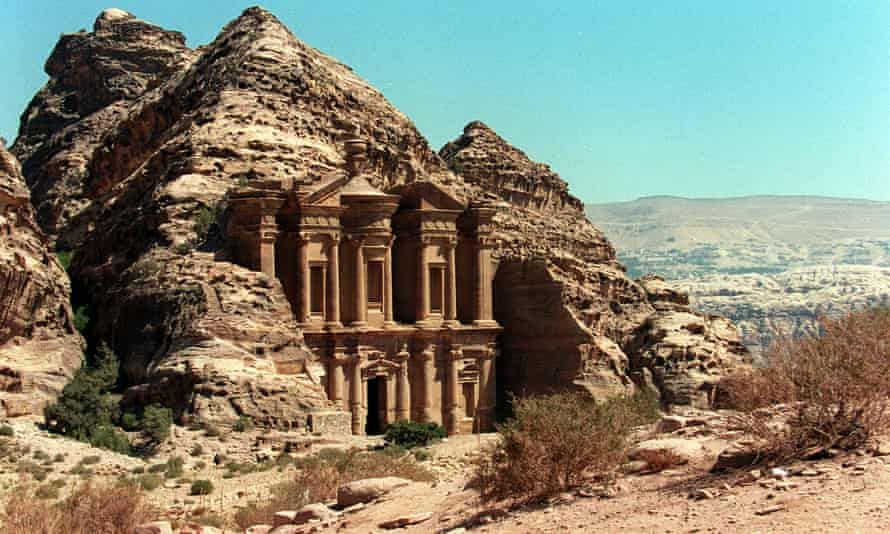 A facade at Petra, where a new monumental structure has been found at the city built by Nabateans more than 2,000 years ago.