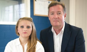 Erin Caffey and Piers Morgan at the Hilltop Unit women's prison in Gatesville, Texas
