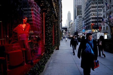 Holiday windows in New York City. 'The economy depends on the spending of middle-, working-class and poor families.'