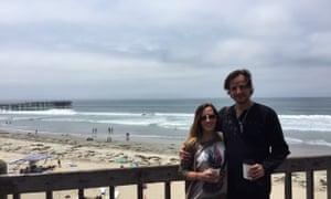April Corley and her boyfriend Rafael Bejarano. Bejarano was killed in the attack in Egypt's White Desert.
